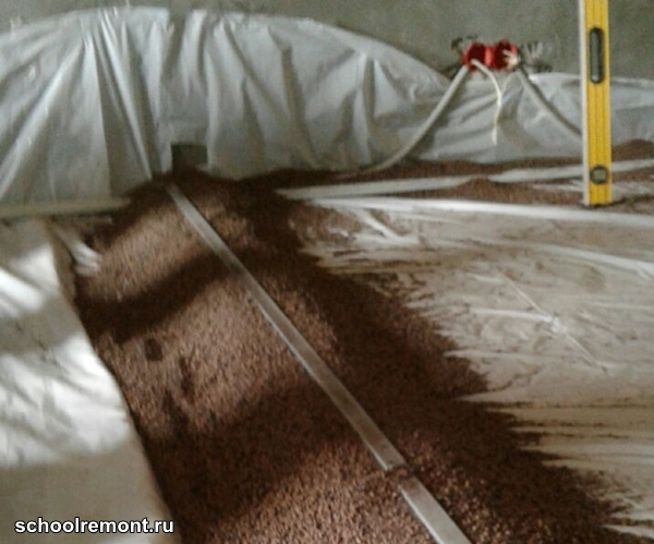 Маяк на керамитной засыпке Кнауф