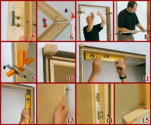 Установка двери своими руками
