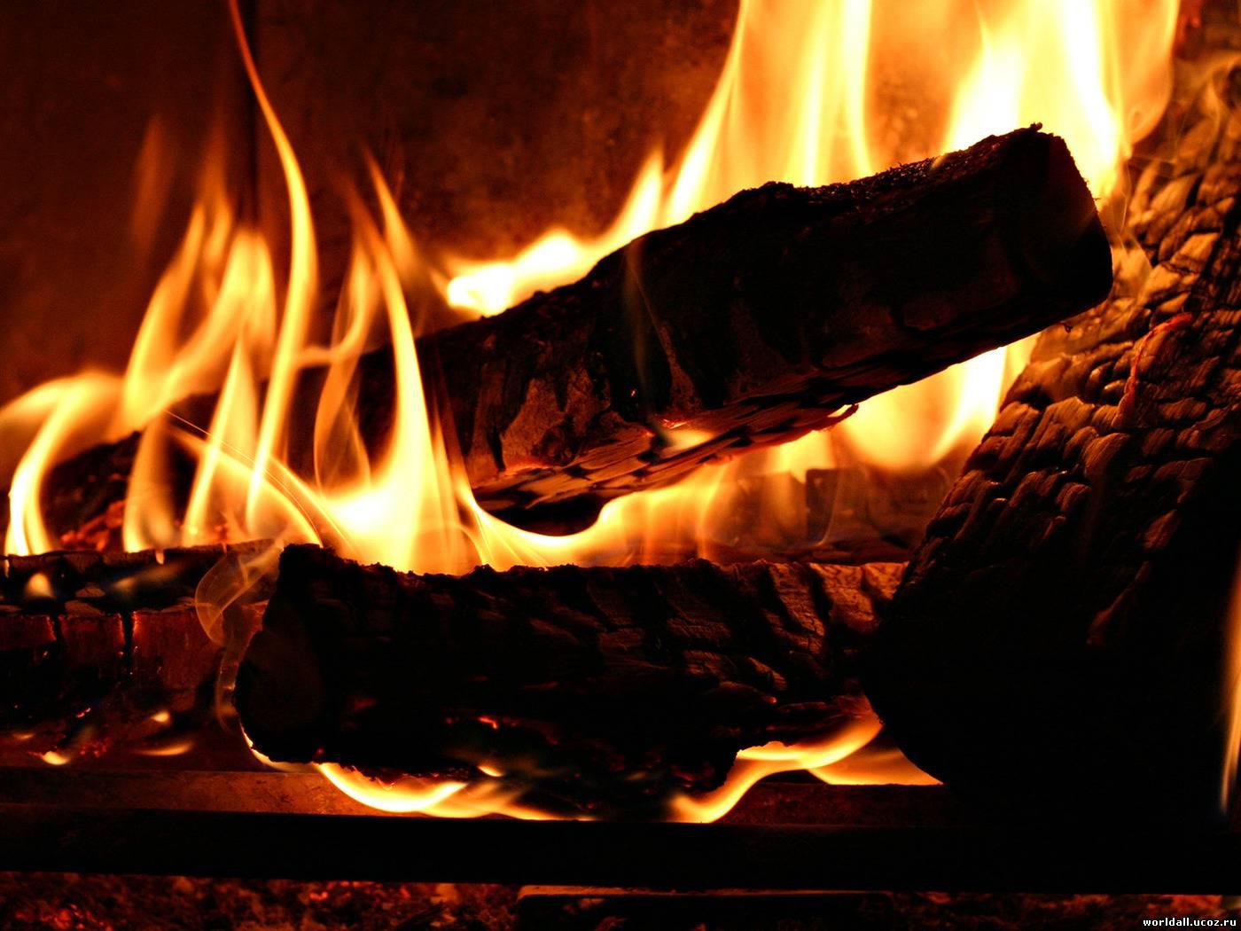 дрова дают сильный жар
