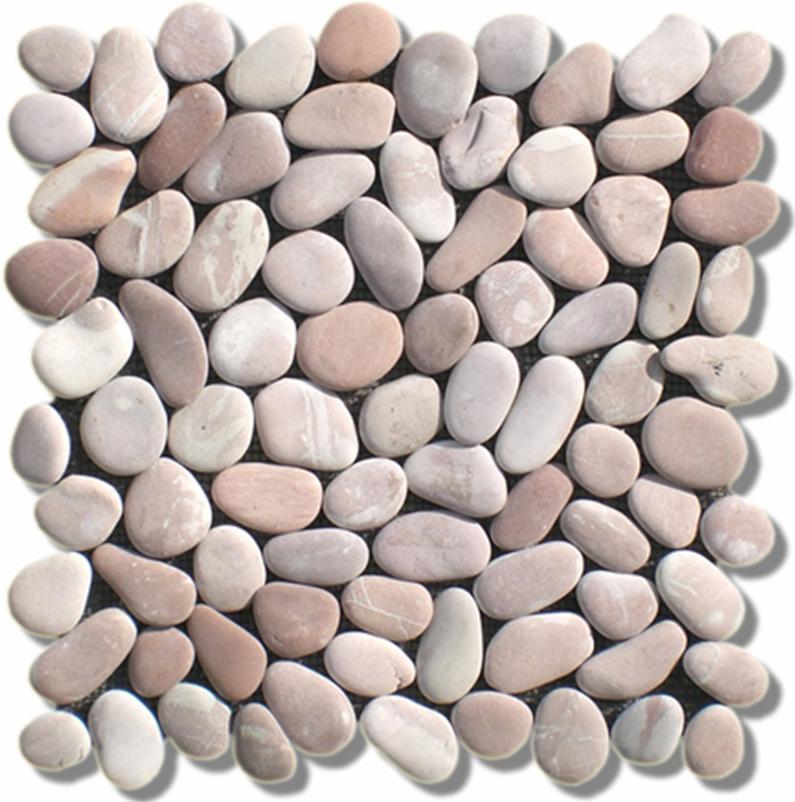Камень галька в интерьере пола