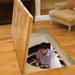 подвал в доме - винный погреб