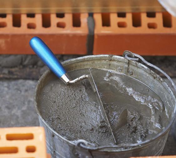цементный раствор в ведре