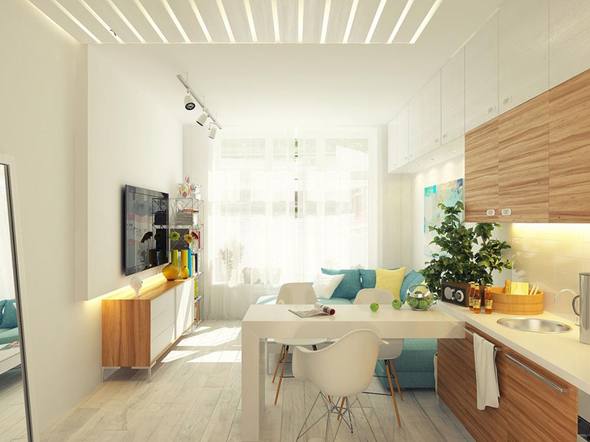 Студия 12 метров дизайн