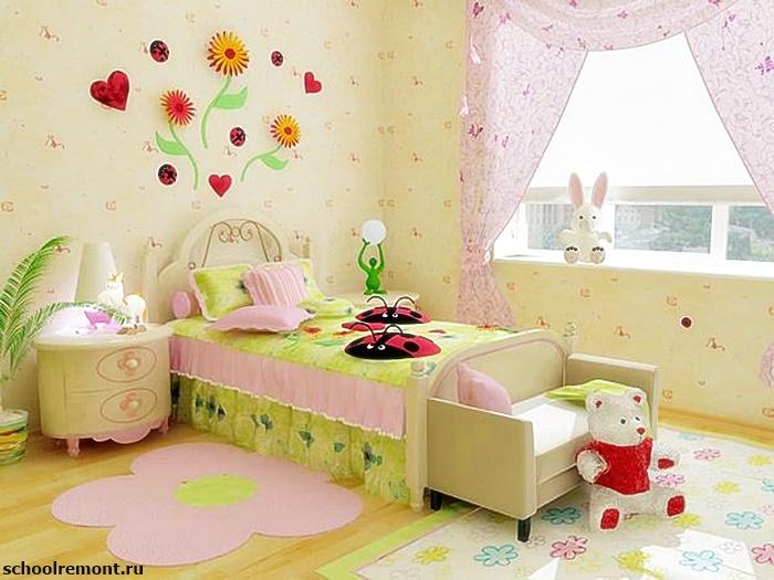 Как украсить детскую комнату девочки