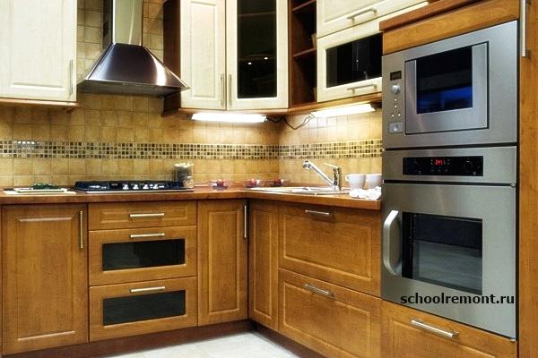 Классическая кухня шпон