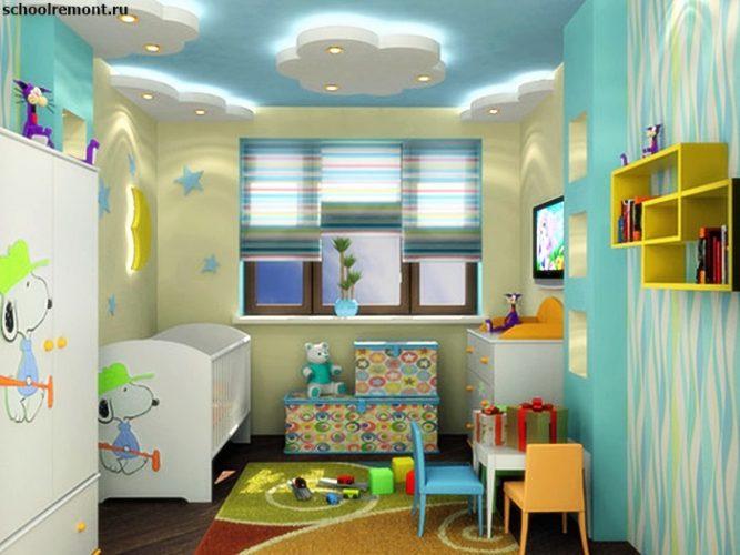 Дизайн маленькой детской комнаты для мальчика