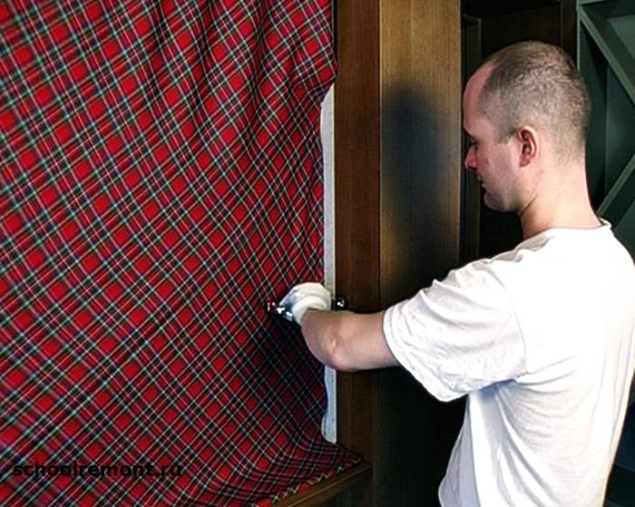 Крепление ткани на стену