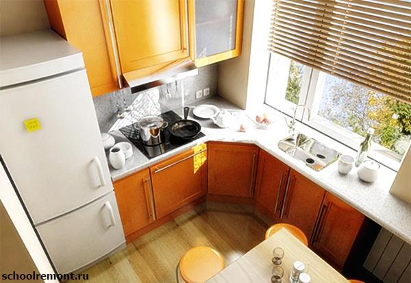 Кухня в хрущевке желтая