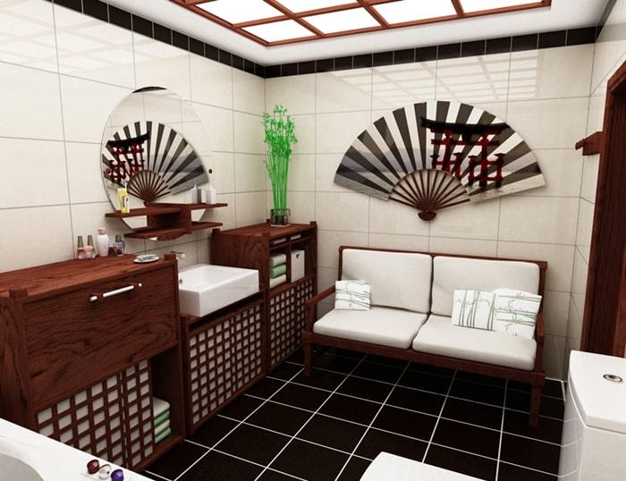 Веера в ванной комнате