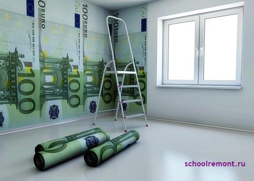 Обои под евро деньги