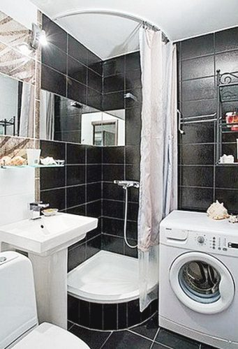 Фото компактной Ванной комнаты