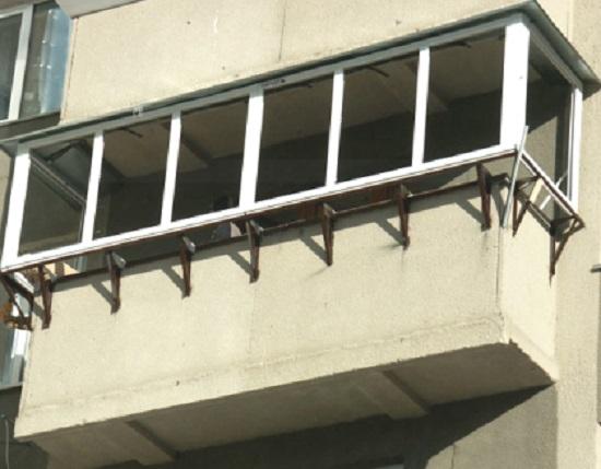 Как сделать выносной балкон в квартире - схема установки.