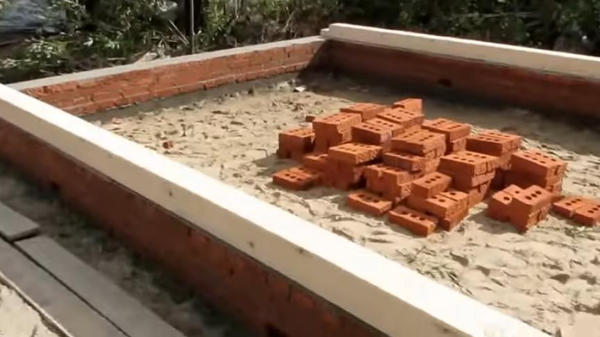 Строительство бани своими руками фундамента
